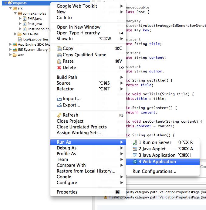 Eclipse Google App Engine Tutorial: A Tutorial On Google Cloud Endpoints (III