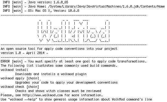 Walkmod output