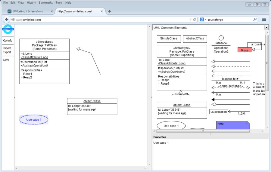 UMLetino screenshot