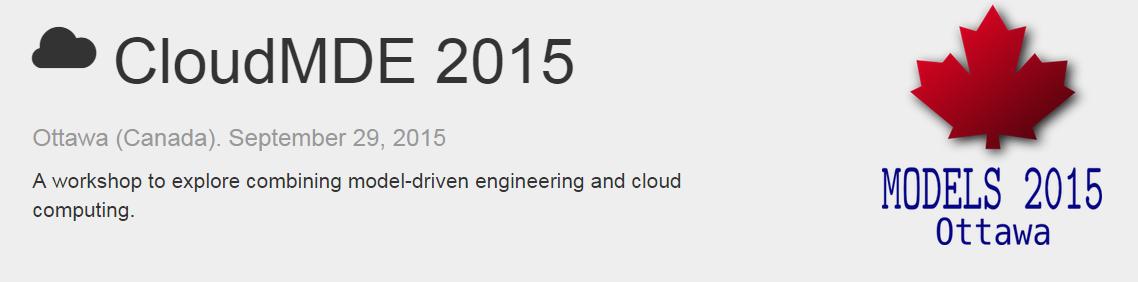 Cloud MDE workshpo 2015