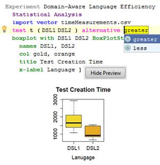 Language editor prototype
