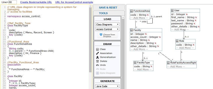 UmpleOnline model editor