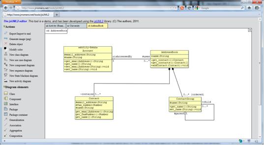 JsUML2 online UML editor