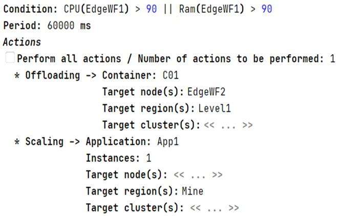 Figure 5. Adaptation rule modeling